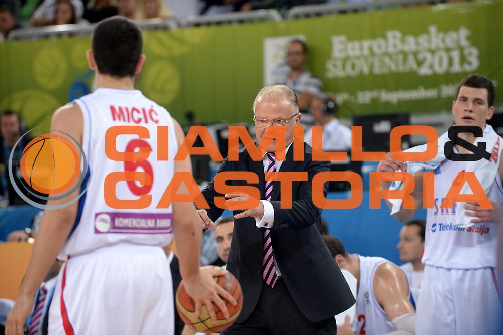DESCRIZIONE : Lubiana Ljubliana Slovenia Eurobasket Men 2013 Second Round Serbia Francia Serbia France<br /> GIOCATORE : Dusan Ivkovic<br /> CATEGORIA : Delusione<br /> SQUADRA : Serbia Serbia<br /> EVENTO : Eurobasket Men 2013<br /> GARA : Serbia Francia Serbia France<br /> DATA : 15/09/2013 <br /> SPORT : Pallacanestro <br /> AUTORE : Agenzia Ciamillo-Castoria/Max.Ceretti<br /> Galleria : Eurobasket Men 2013<br /> Fotonotizia : Lubiana Ljubliana Slovenia Eurobasket Men 2013 Second Round Serbia Francia Serbia France<br /> Predefinita :