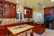 View of the kitchen of a home in the Southpointe community of Lake James in Morganton, North Carolina.