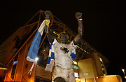 The Billy Bremner statue outside Elland Road during the EFL Sky Bet Championship match between Leeds United and Aston Villa at Elland Road, Leeds, England on 1 December 2017. Photo by Paul Thompson.