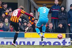 Bradford City's Billy Clarke scores the opening goal  - Photo mandatory by-line: Matt McNulty/JMP - Mobile: 07966 386802 - 15/02/2015 - SPORT - Football - Bradford - Valley Parade - Bradford City v Sunderland - FA Cup - Fifth Round