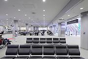 international departure waiting hall at Narita airport Tokyo Japan