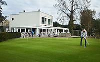 NOORDWIJK - Puttinggreen met clubhuis, accommodatie, restaurant.  Golfcentrum Noordwijk. COPYRIGHT KOEN SUYK