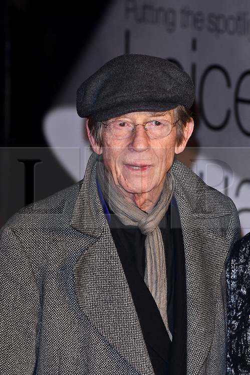 © under license to London News Pictures. 01/02/2011. John Hurt attends the European premiere of Brighton Rock at Leicester Square, London. Picture credit should read: Julie Edwards/London News Pictures