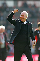 Football - 2016 / 2017 Premier League - AFC Bournemouth vs. Burnley<br /> <br /> Bournemouth's Chairman Jeff Mostyn celebrates staying in the premier league for another season on the lap of honour after the final home game at the Vitality Stadium (Dean Court) Bournemouth<br /> <br /> COLORSPORT/SHAUN BOGGUST