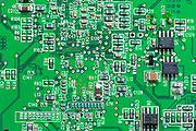 Circuit board of computer hard drive, cables, connections and terminals