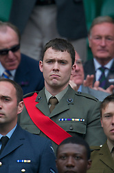 LONDON, ENGLAND - Saturday, June 26, 2010: Members of the Armed Forces in the Royal Box on Centre Court on day six of the Wimbledon Lawn Tennis Championships at the All England Lawn Tennis and Croquet Club. (Pic by David Rawcliffe/Propaganda)