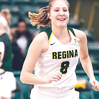 2nd year forward, Macaela Crone (8) of the Regina Cougars during the Women's Basketball Home Game on Fri Nov 02 at Centre for Kinesiology,Health and Sport. Credit: Arthur Ward/Arthur Images