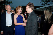 HANS ULRICH OBRIST; JULIA PEYTON-JONES;  Ewan McGregor; , The Summer party 2011 co-hosted by Burberry. The Summer pavilion designed by Peter Zumthor. Serpentine Gallery. Kensington Gardens. London. 28 June 2011. <br /> <br />  , -DO NOT ARCHIVE-© Copyright Photograph by Dafydd Jones. 248 Clapham Rd. London SW9 0PZ. Tel 0207 820 0771. www.dafjones.com.