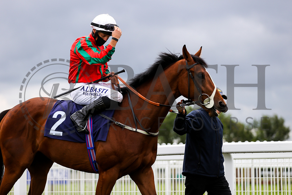 Coul Kat ridden by Tom Marquand (T: Rod Millman) ahead of the 12:30 attheraces.com Maiden Auction Stakes - Rogan/JMP - 14/07/2020 - HORSE RACING - Bath Racecourse - Bath, England.