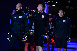 October 6, 2017 - Orlando, Florida, United States - Orlando, FL - Friday Oct. 06, 2017: Tim Howard, Brad Guzan, Nick Rimando during a 2018 FIFA World Cup Qualifier between the men's national teams of the United States (USA) and Panama (PAN) at Orlando City Stadium. (Credit Image: © John Todd/ISIPhotos via ZUMA Wire)