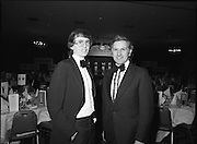1980-02-29.29th February 1980.29/02/1980.02-29-80..Photographed at Burlington Hotel, Dublin..Sporting Prowess:..Ireland's Top Ten sporting figures from 1979 are acknowledged at the Texaco Sportstars of the Year Awards. .Left of Picture:..John Treacey, recipient of the Athletics Award