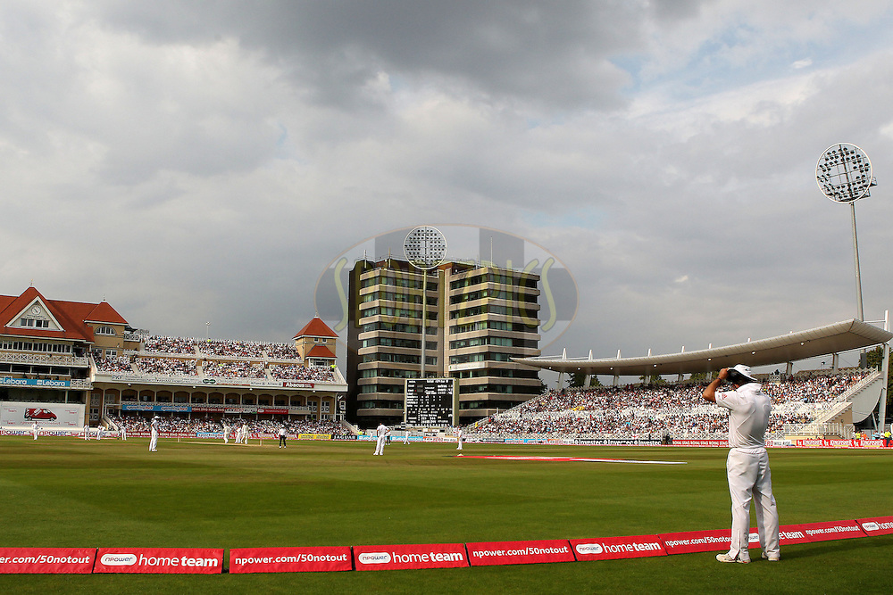 Andrew Strauss during day 4 of the 2nd test between England and India held at Trent Bridge Cricket Ground in Nottingham on the 1st August 2011...Photo by Ron Gaunt/SPORTZPICS/BCCI