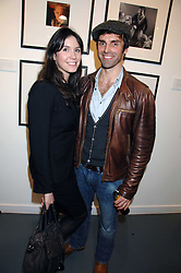 Actor JONATHAN WRATHER and his fiance LAURA BELL at an exhibition of photographs commissioned by children's charity Barnardo's held at the Getty Images gallery, Eastcastle Street, London on 24th April 2008.<br /><br />NON EXCLUSIVE - WORLD RIGHTS