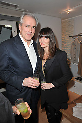 Left to right, JEREMY KING and LAUREN GURVICH at the launch party for Club Monaco at Browns, 32 South Molton Street, London on 16th February 2011.