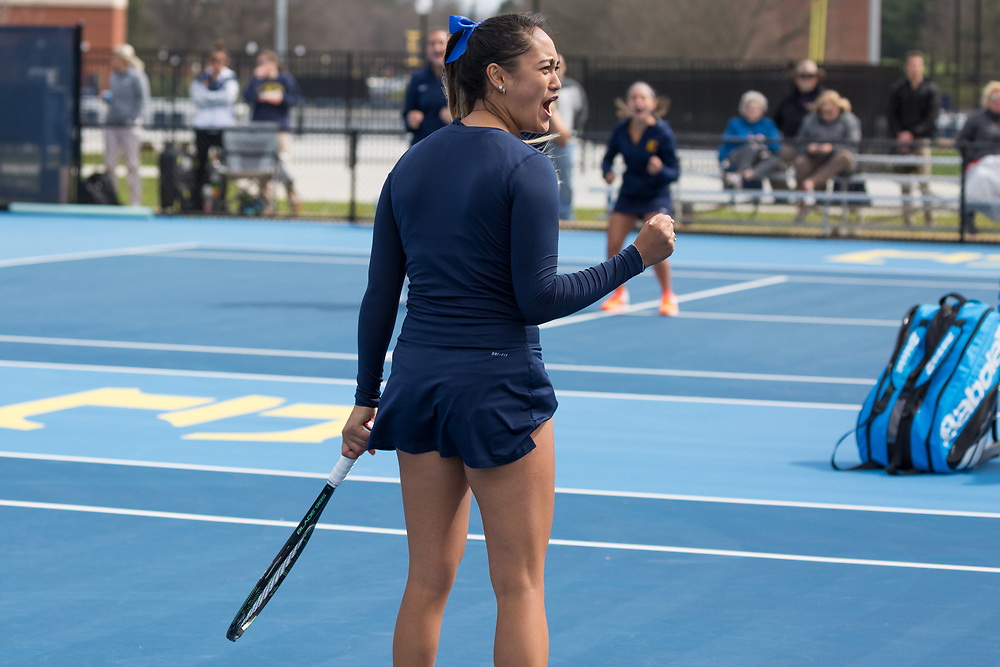 April 6, 2018 - Johnson City, Tennessee - Dave Mullins Tennis Complex: Melissa Esguerra<br /> <br /> Image Credit: Dakota Hamilton/ETSU