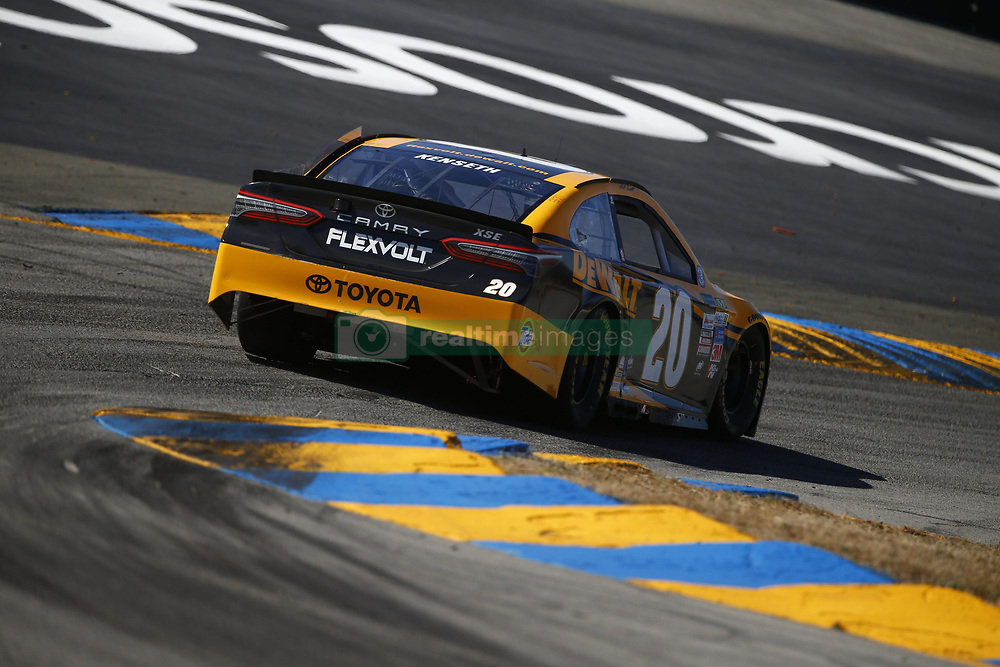 June 23, 2017 - Sonoma, CA, United States of America - June 23, 2017 - Sonoma, CA, USA: Matt Kenseth (20) takes to the track to practice for the Toyota/Save Mart 350 at Sonoma Raceway in Sonoma, CA. (Credit Image: © Justin R. Noe Asp Inc/ASP via ZUMA Wire)