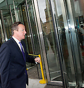 David Cameron arriving at the Andrew Marr show <br />