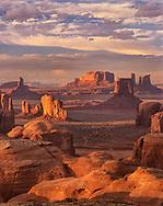 Hunts Mesa, sunset, Monument Valley, Arizona