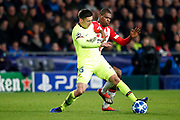 Barcelona player Clement Lenglet (l) and PSV player Denzel Dumfries (r) during the UEFA Champions League, Group B football match between PSV Eindhoven and FC Barcelona on November 28, 2018 at Philips Stadium in Eindhoven, Netherlands - Photo Joep Leenen / Pro Shots / ProSportsImages / DPPI