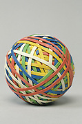 Rubber strings forming a ball