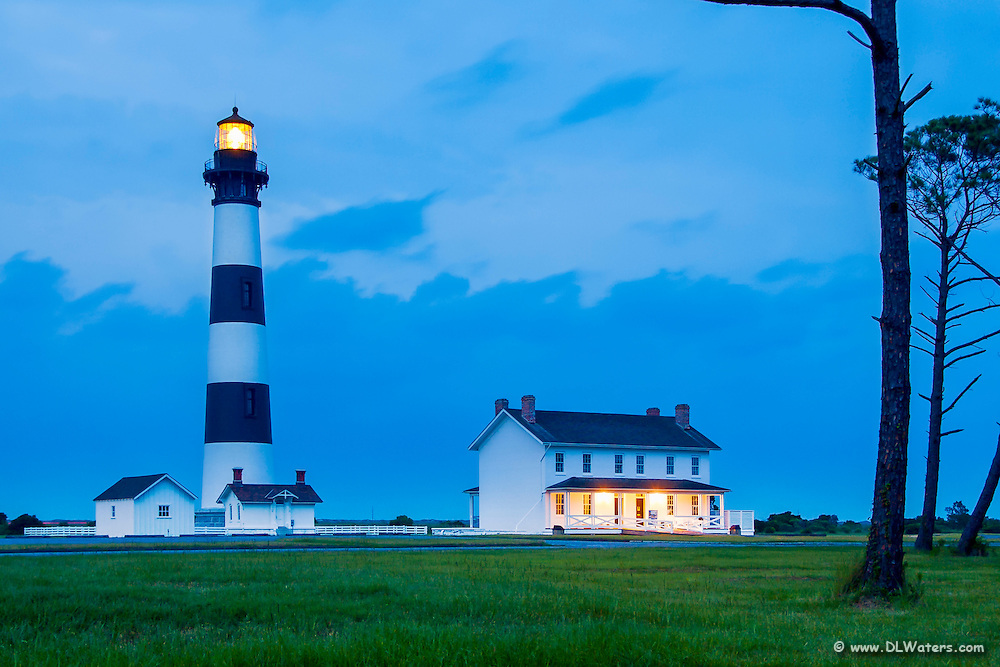 Bodie Island Lighthouse at twlight.