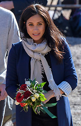 The Duchess of Sussex during their visit to the 'Education For All' boarding house in Asni Town, Atlas Mountains on the second day of their tour of Morocco.