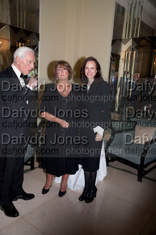 LORD AIRLIE; LADY ANNABEL GOLDSMITH; BETTINA VON HASE, Book launch of Lady Annabel Goldsmith's third book, No Invitation Required. Claridges's. London. 11 November 2009