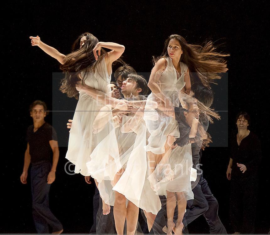Tanztheater Wuppertal Pina Bausch <br /> &quot;...como el musguito en la piedra, ay si, si, si...&quot; (Lie moss on a stone) at Sadler's Wells, London, Great Britain <br /> rehearsal <br /> 10th February 2016 <br /> <br /> Pablo Aran Gimeno<br /> Rainer Behr<br /> Damiano Ottavio Bigi <br /> Clementine Deluy <br /> Silvia Farias Heredia <br /> Jonathan Fredrickson <br /> Ditta Miranda Jasjfi<br /> Nayoung Kim <br /> Eddie Martinez<br /> Dominique Mercy <br /> Thusnelda Mercy <br /> Morena Nascimento <br /> Azusa Seyama<br /> Fernando Suels Mendoza<br /> Anna Wehsarg<br /> Tsai-Chin Yu <br /> <br /> <br /> Photograph by Elliott Franks <br /> Image licensed to Elliott Franks Photography Services