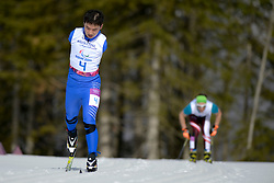 DU Haitao competing in the Nordic Skiing XC Long Distance at the 2014 Sochi Winter Paralympic Games, Russia