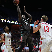 Cedric Kuakumensah, Brown, in action during the Marist vs Brown Men's College Basketball game in the Hall of Fame Shootout Tournament at Mohegan Sun Arena, Uncasville, Connecticut, USA. 22nd December 2015. Photo Tim Clayton