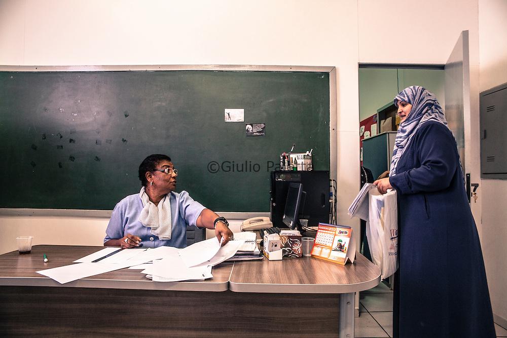 Brazilian and Arabic school in Foz do Iguacu. The school principal and one of the teacher