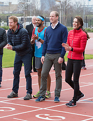 LONDON- UK- 5th Feb 2017. The Duke and Duchess of Cambridge and Prince Harry will join a training day with the runners taking part in the 2017 Virgin Money London Marathon for Heads Together, the official Charity of the Year. The training day for Team Heads Together, the campaign to change the conversation on mental health which is spearheaded by Their Royal Highnesses,<br /> <br /> Photograph by Ian Jones