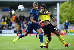 Jonson Clarke-Harris of Bristol Rovers takes on Richard Nartey of Burton Albion - Mandatory by-line: Robbie Stephenson/JMP - 31/08/2019 - FOOTBALL - Pirelli Stadium - Burton upon Trent, England - Burton Albion v Bristol Rovers - Sky Bet League One