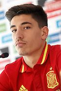 Hector Bellerin speaks during a press conference at Aktivpark Montafon Stadion, Schruns<br /> Picture by EXPA Pictures/Focus Images Ltd 07814482222<br /> 28/05/2016<br /> ***UK &amp; IRELAND ONLY***<br /> EXPA-ESP-160530-0060.jpg