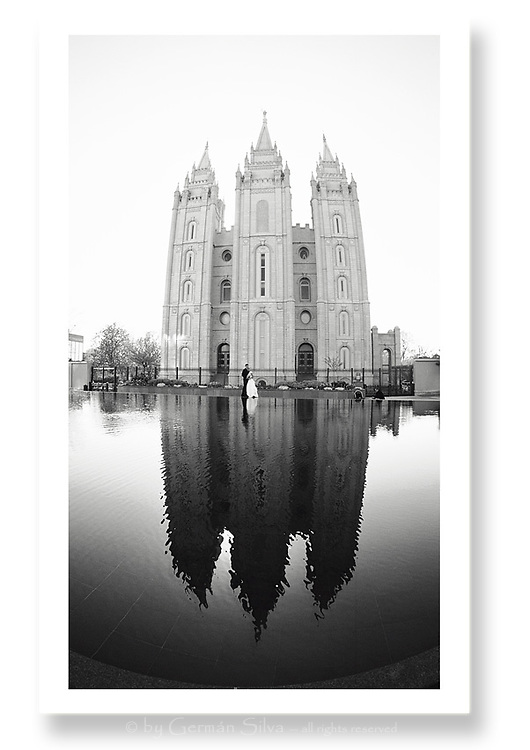 LDS wedding.  Salt Lake City LDS Temple.  Salt Lake City, Utah...Photo © http://gsilvaphoto.com Beautiful, professional, yet affordable wedding photography.