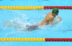 29th July 2012 - London 2012 Olympic Games - Swimming - Men's 100m Breaststroke Final - Cameron van de Burgh (RSA) in action - Photo: Simon Stacpoole / Offside./SPORTZPICS
