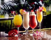 Exotic tropical drinks, Hawaii