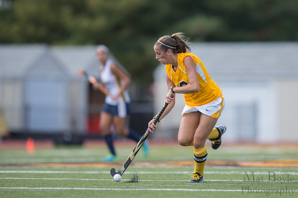 Rowan University Senior Forward/Midfield Amy McKeever (8);  Rowan University Field Hockey vs Neumann University at Coach Richard Wacker Stadium in Glassboro, NJ on Saturday September 28, 2013. (photo / Mat Boyle)