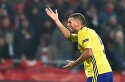 November 17, 2018 - Konya, Türkiye - Sweden's Marcus Berg      during Turkey vs. Sweden UEFA Nations League, League B game at Konya, Turkey, 17th Nov., 2018 (Credit Image: © Hikmet Saatci/Depo Photos via ZUMA Wire)