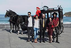 25.09.2015, Madrid, San Sebastian, ESP, San Sebastian International Film Festival, im Bild Dani Matinez, Clara Lago, Mario Vaquerizo, Alaska and Santiago Segura pose during `Hotel Transilvania&acute; film presentation // at 63rd Donostia Zinemaldia, San Sebastian International Film Festival in Madrid in San Sebastian, Spain on 2015/09/25. EXPA Pictures &copy; 2015, PhotoCredit: EXPA/ Alterphotos/ Victor Blanco<br /> <br /> *****ATTENTION - OUT of ESP, SUI*****