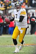Jan. 2, 2011; Cleveland, OH, USA; Pittsburgh Steelers quarterback Ben Roethlisberger (7) during the second quarter against the Cleveland Browns at Cleveland Browns Stadium. The Steelers beat the Browns 41-9. Mandatory Credit: Jason Miller-US PRESSWIRE