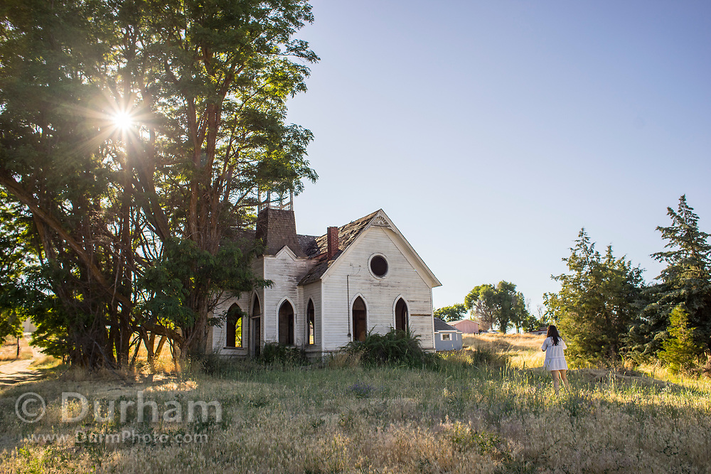 An old abandoned church in Wasco, Oregon.