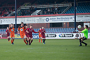 St Johns' Lewis Neilson scores the second of his four goals -  St.John's v Harris in the U15 Senior Sports Cup Final (sponsored by DSA) at Dens Park, Dundee<br /> <br /> <br />  - &copy; David Young - www.davidyoungphoto.co.uk - email: davidyoungphoto@gmail.com