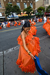 California: San Francisco Carnaval festival parade in the Mission District. Photo copyright Lee Foster. Photo # 30-casanf81485