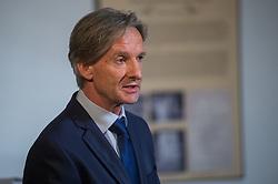 Andrej Čas, Mayor of   Slovenj Gradec during presentation of exhibition and room of Hugo Wolf in hotel Korotan, on April 6th, 2017 in Vienna, Austria. Photo by Martin Metelko / Sportida