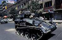 Kabul, 05 Augist 2005..German Troops, driving armoured vehicle, patrol the streets of Kabul