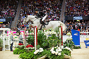 Malin Trollnas - Tiger Woods<br /> Rolex FEI World Cup Final 2013<br /> © DigiShots