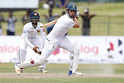 July 23, 2018 - Colombo, Sri Lanka - South African cricketer Theunis de Bruyn plays a shot during the 4th day's play in the 2nd test cricket match between Sri Lanka and South Africa at SSC International Cricket ground, Colombo, Sri Lanka on Monday  23 July 2018  (Credit Image: © Tharaka Basnayaka/NurPhoto via ZUMA Press)