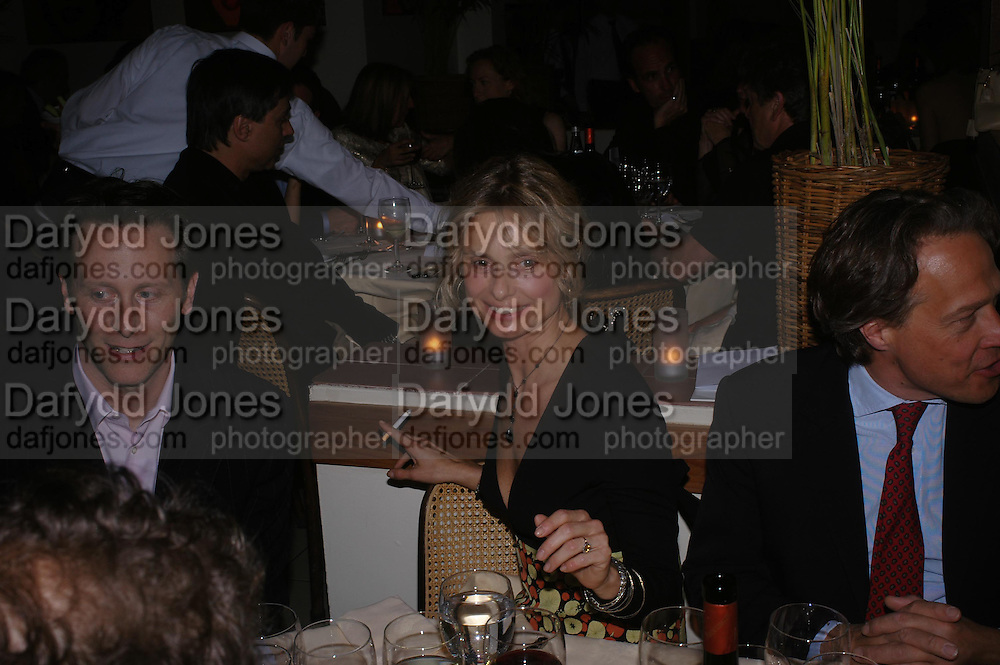 Steven Webber and Maryam D'Abo. Dinner at San Lorenzo, Beauchamp Place after Tod's hosts Book signing with Dante Ferretti celebrating the launch of 'Ferretti,- The art of production design' by Dante Ferretti. 19 April 2005.  ONE TIME USE ONLY - DO NOT ARCHIVE  © Copyright Photograph by Dafydd Jones 66 Stockwell Park Rd. London SW9 0DA Tel 020 7733 0108 www.dafjones.com