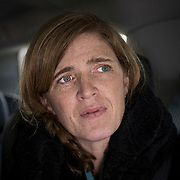 WASHINGTON,DC-JAN11: Former United States Ambassador to the United Nations, Samantha Power, arrives in Washington, DC, January 11, 2017, to attend the screening of the upcoming documentary film, &quot;The Final Year&quot;.<br /> <br /> Photo by Evelyn Hockstein